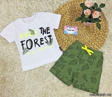 Forest Erkek Bebek Şortlu Takım