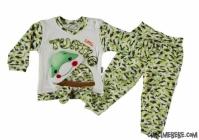 Kurbağa Aplikeli Bebe Takımı