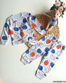 Monster Erkek Bebek Pijama Takımı