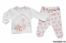 Zarif Kuğu 2'li Bebek Yeni Doğan Zıbın Takımı