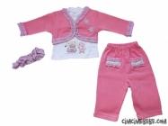 Selanik Cepkenli Bandanalı Bebe Takım