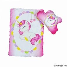 Unicorn Baskılı Kız Bebek Alt Açma Seti