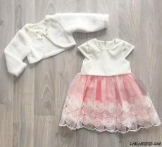Welsoft Bolerolu Kız Çocuk Elbise