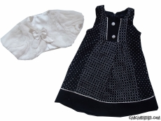 Peluş Bolerolu Kaşe Elbise