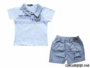 Gömlek Yakalı Bebe Takım