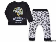 Army Yıldız Baskılı Penye Bebek Takım
