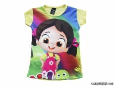 Çizgi Karakterli Kız Çocuk T-Shirt