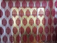 Dekoratif Damaks Desen İp Tül Perde(3 Metre)