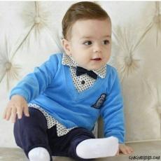 Papyonlu Sahte Gömlekli 2'li Bebe Takım