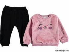Kız Çocuk Pisicik Kışlık Takım