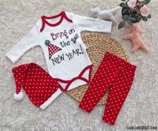 Yeni Yıl Şapkalı Badili Bebek Takım