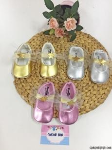 Yıldızlı Lameli Prenses Bebek Ayakkabı