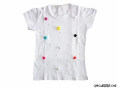 Ponponlu Kısa Kollu T-Shirt