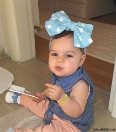 Yıldızlı Kız Bebek-Çocuk Bandana