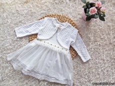 Kız Bebek Bolero Görünümlü Tüllü Elbise