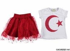 Türk Bayrağı Simli 23 Nisan Takım