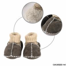 Hakiki Koyun Derisi Bebek Ev Ayakkabısı