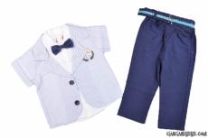 Erkek Çocuk Kısa Kollu Ceketli Takım