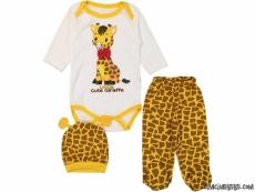 Sevimli Zürafa Badili 3'lü Bebek Takım