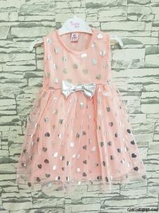 Kız Çocuk Yıldızlı Tüllü Elbise