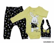Minik Tavşan Badili 3'lü Bebek Takım