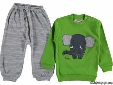 Fil Aplikeli Bebek Pijama Takımı