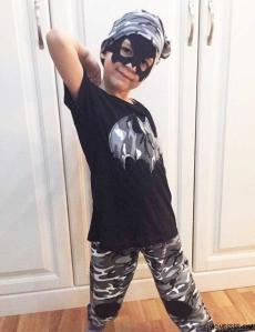 Kamuflaj Yarasa Maskeli Erkek Çocuk Takım