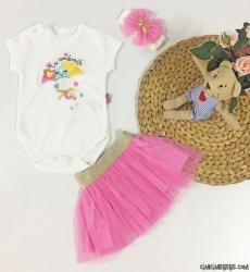 Umbrella Tütülü Bandanalı Bebek Takım