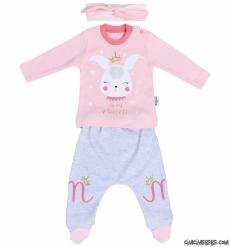 Bandanalı Minik Prenses Bebek Takım