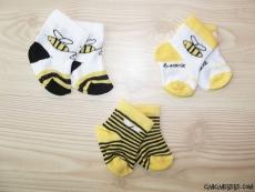 Arılı 3'lü Bebek Çorap Seti