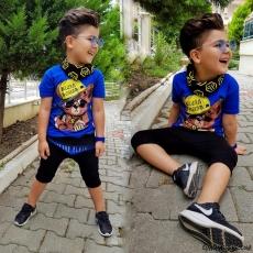 Erkek Çocuk Fularlı Tarz Takım