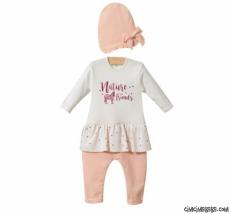 Nature Kız Bebek Şapkalı Tarz Tulum