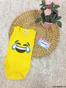 Kahkaha Emoji Askılı Bebek Badi