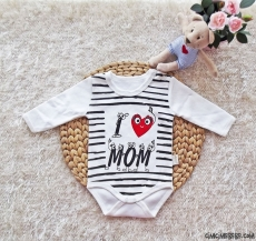 I Love Mom Uzun Kollu Bebek Badi
