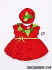 Çilek Penye Elbise