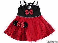 Mikili Taçlı Kız Çocuk Elbise