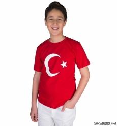 Büyük Beden Türk Bayrağı T-Shirt