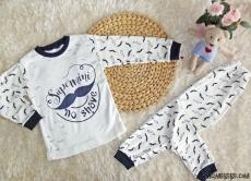 Bıyıklı Erkek Çocuk Pijama Takımı