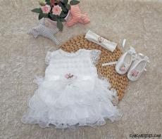 Kız Bebek Gelinlik Mevlütlük Set