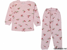 Kirazlı Kız Pijama Takımı