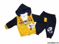 İçi Polar 3'lü Bebek Takım