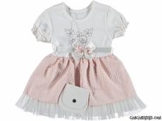 Çantalı Kız Bebek Elbise