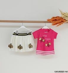 Arı Vız Vız Kız Çocuk Etekli Takım