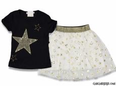 Yıldızlı Tütülü Kız Çocuk Takım