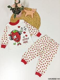 Çilek Kız Penye Pijama Takımı