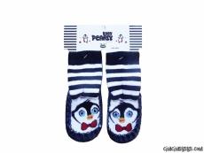 Penguen Figürlü Çarık Çorap