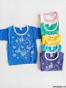 Çiçekli Penye Kız Çocuk T-Shirt