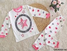 Star Kız Çocuk Pijama Takımı