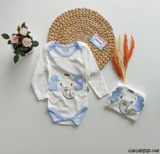 Minik Fil Uzun Kollu Bebek Badi