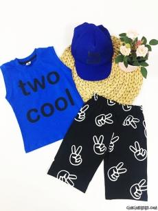 Two Cool Kasket Şapkalı Çocuk Takım